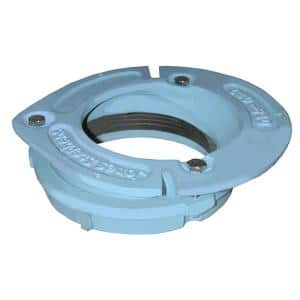 4 in. x 2 in. No Caulk Code Blue Cast Iron Water Closet Flange with 1 in. Offset