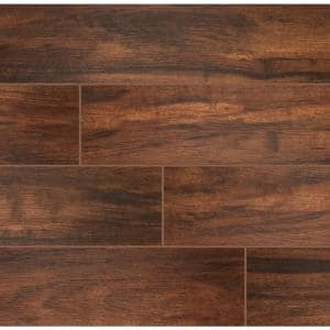 Botanica Teak 6 in. x 24 in. Matte Porcelain Floor and Wall Tile (10 sq. ft. / case)