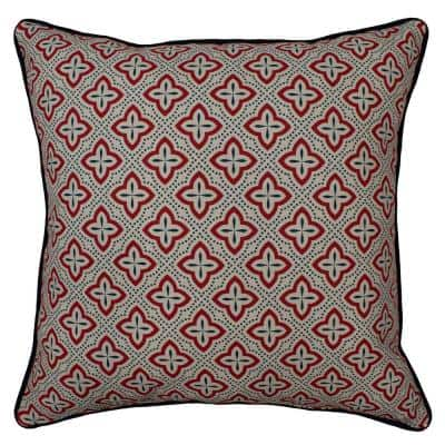 Cottage Ditzy Biscuit Outdoor Throw Pillow