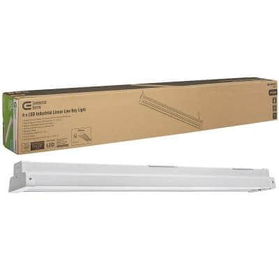4 ft. 162-Watt Equivalent Integrated LED White High Low Bay Warehouse Light 9000 Lumens 5000K Dimmable
