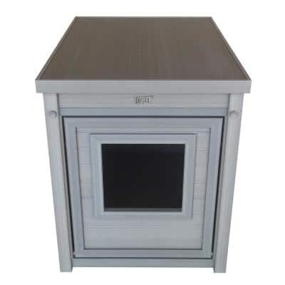 ECOFLEX® Litter Box Cover End Table in Grey