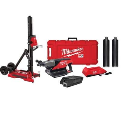 MX FUEL Li-Ion Cordless Handheld Core Drill Kit with One 3 in. Diamond Wet Core Bit and One 4 in. Diamond Wet Core Bit