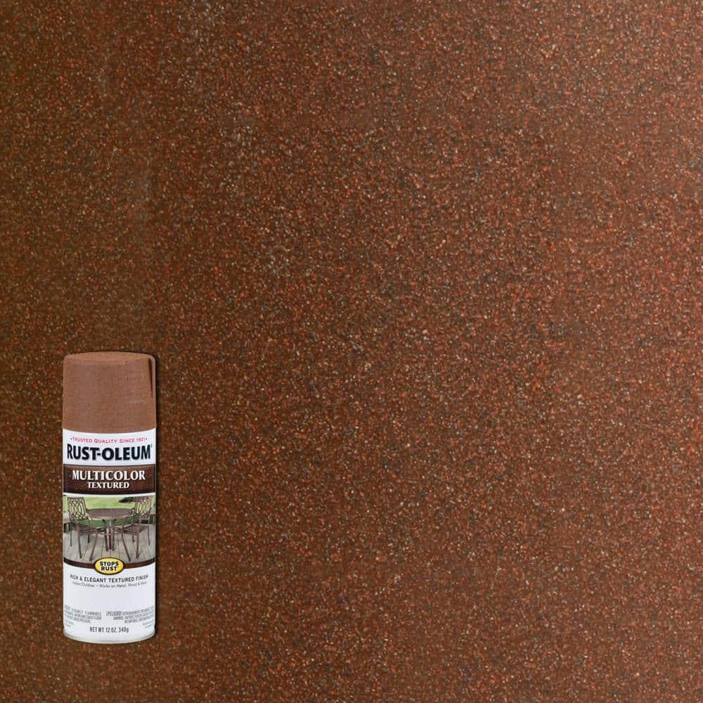 Rust-Oleum Stops Rust 12 oz. MultiColor Textured Rustic Umber Protective Spray Paint