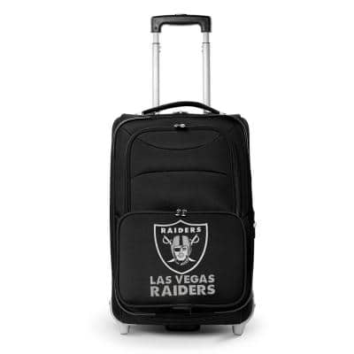 NFL Oakland Raiders 21 in. Black Carry-On Rolling Softside Suitcase