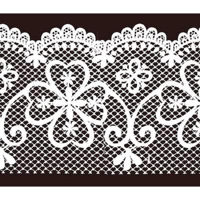 Falkirk McGhee Peel and Stick Trellis White Latticework Self Adhesive Window Sticker Wallpaper Border