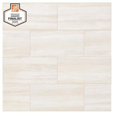 QuicTile 12 in. x 24 in. Cliff Stone Matte Color Body Porcelain Locking Floor Tile (9.6 sq. ft. / case)