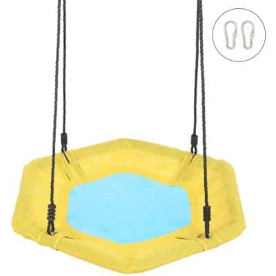 Hexagon Swing with Accessories (Yellow and Blue)