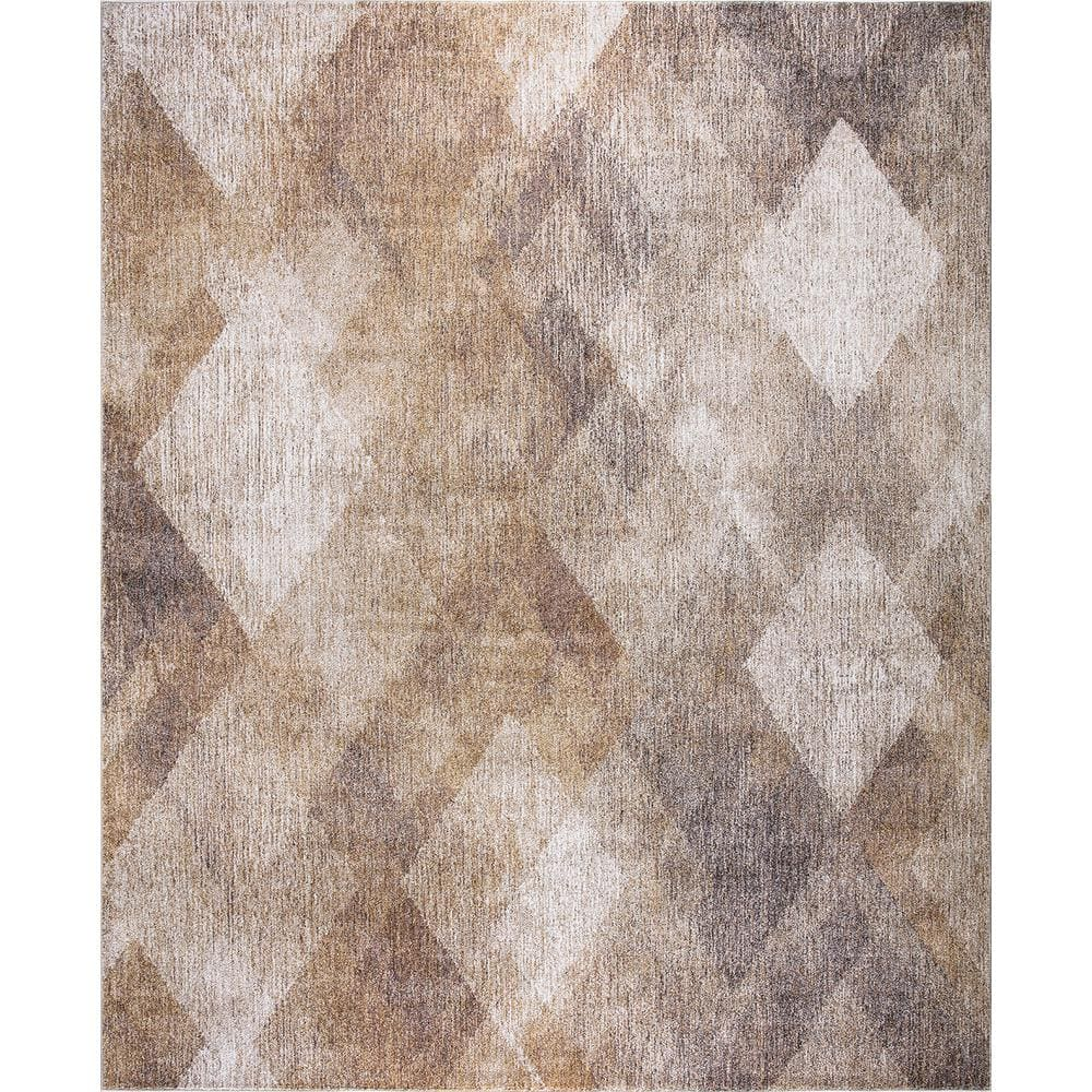 Concord Global Trading Genoa Natural 8 Ft X 10 Ft Geometric Area Rug 69017 The Home Depot