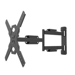Full Motion Single Stud TV Wall Mount with 27 in. Extension for 30 in. - 70 in. TVs