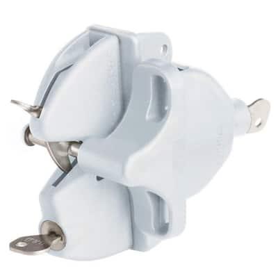 White Lokk Latch with External Access Kit