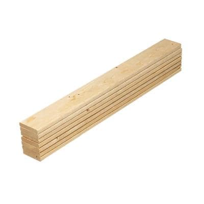1 in. x 4 in. x 5 ft. Pine Queen Bed Slat Board (7-Pack)
