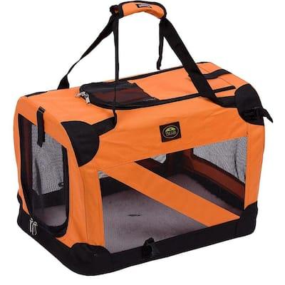 Orange 360 Degree Vista-View Soft Folding Collapsible Crate - Large