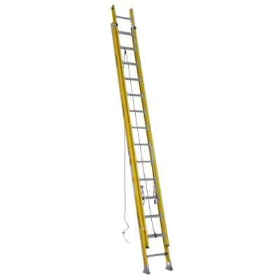 28 ft. Fiberglass D-Rung Extension Ladder with 375 lbs. Load Capacity Type IAA Duty Rating