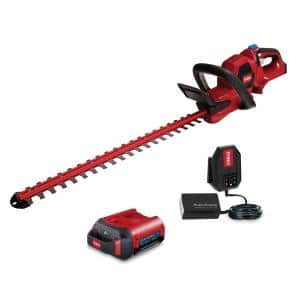 60-Volt Max Lithium-Ion Cordless 24 in. Hedge Trimmer - 2.0 Ah Battery and Charger Included