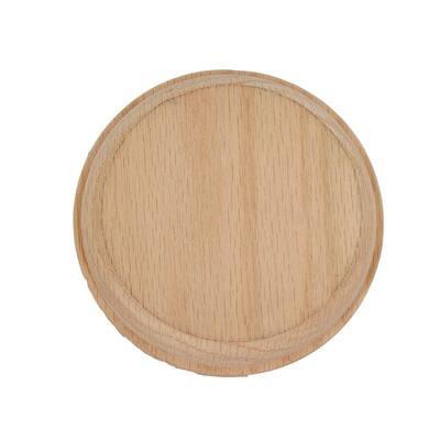 4-1/2 in. Unfinished Oak Round Rosette