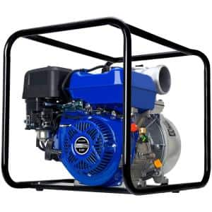 9 HP 4 in. Portable Utility Gasoline Powered Water Pump