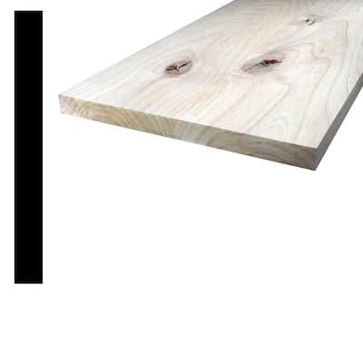 1 in. x 10 in. x 8 ft. Knotty Alder Wood S4S Board