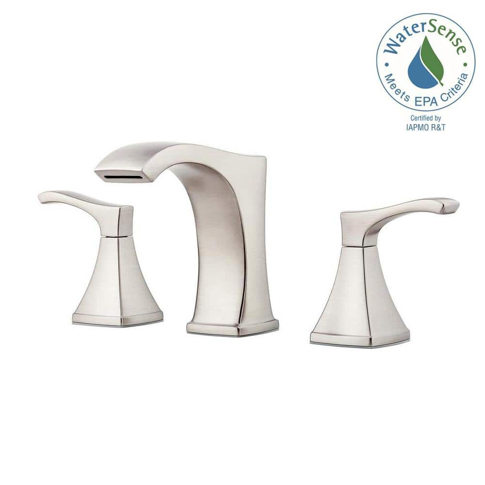 Pfister Venturi 8 In Widespread 2 Handle Bathroom Faucet In Spot Defense Brushed Nickel Lf 049 Vngs The Home Depot