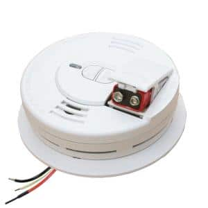 Firex Hardwired Smoke Detector with Ionization Sensor, 9-Volt Battery Backup, and 2-Button Test/Hush