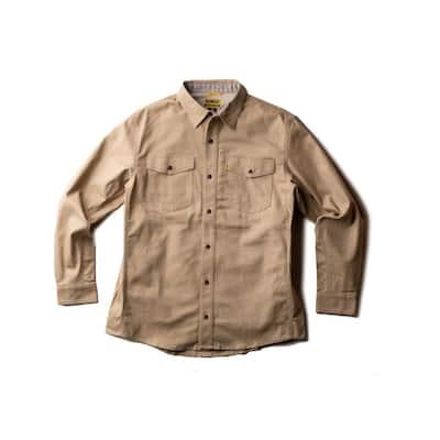 Garland Men's Size 3X-Large Sandstone Cotton/Spandex Work Shirt