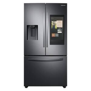 26.5 cu. ft. Family Hub French Door Smart Refrigerator in Fingerprint Resistant Black Stainless Steel