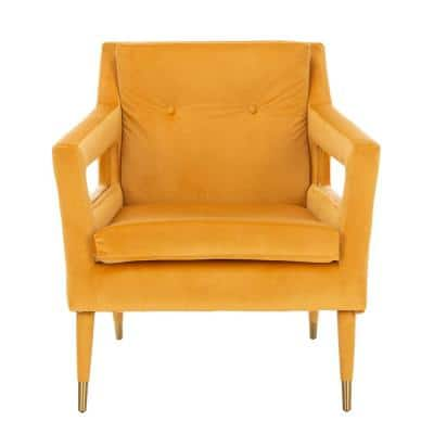 Mara Marigold Upholstered Accent Arm Chair
