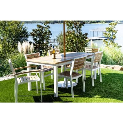 Round Teak Patio Dining Tables Patio Tables The Home Depot