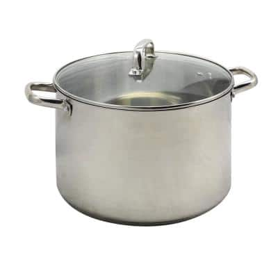 Adenmore 16 qt. Stainless Steel Stock Pot with Glass Lid