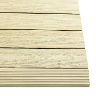 1/6 ft. x 1 ft. Quick Deck Composite Deck Tile Straight Fascia in Sahara Sand (4-Pieces/Box)