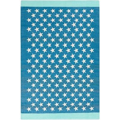 Cressida Bright Blue 8 ft. x 11 ft. Indoor/Outdoor Area Rug