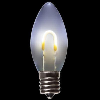 FlexFilament C9 LED Shatterproof Cool White Vintage Edison Christmas Light Bulbs (5-Pack)