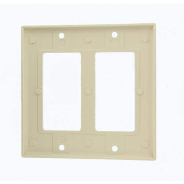Leviton Almond 2 Gang Decorator Rocker Wall Plate 1 Pack R56 80409 00t The Home Depot