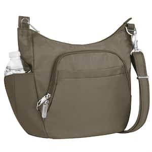 Anti-Theft Nutmeg Poly Crossbody Bucket Tote Bag