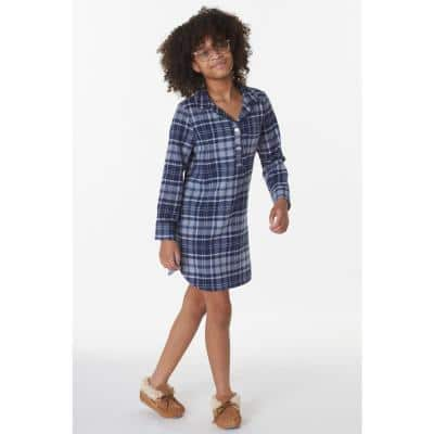 Family Flannel Company Cotton™ Girl's Sleepshirt in Navy Plaid