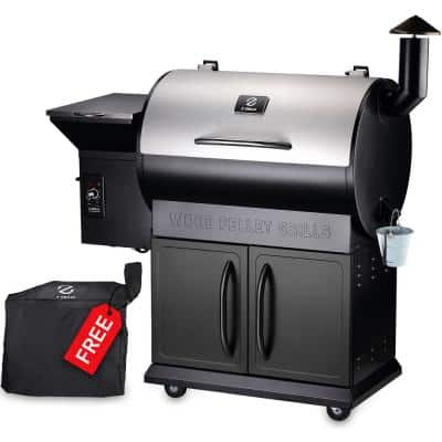 694 sq. in. Pellet Grill and Smoker, Stainless Steel