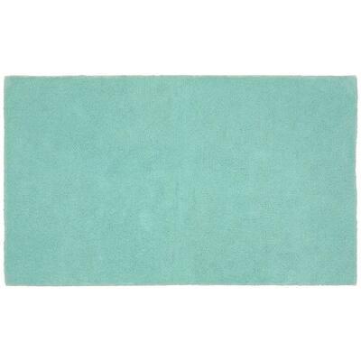 Queen Sea Foam 30 in. x 50 in. Solid Cotton Bath Mat