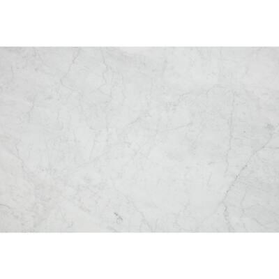 3 in. x 3 in. Marble Countertop Sample in Carrara White