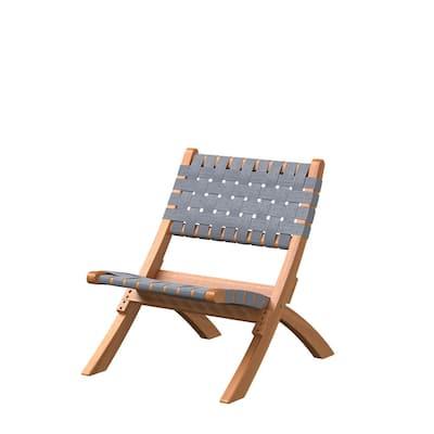 Sava Gray Wood Folding Lawn Chair