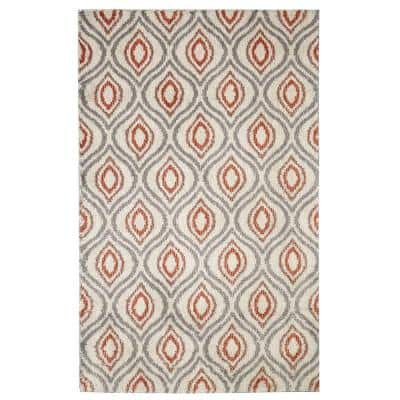Ogee Waters Coral 8 ft. x 10 ft. Shag Area Rug