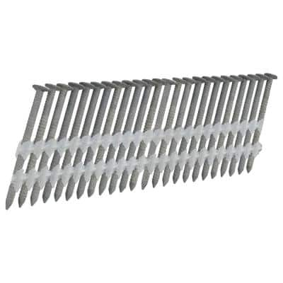 2 in. x 0.113 in. 21-Degree Plastic Collated Galvanized Ring Shank Framing Nails (2000-Count)
