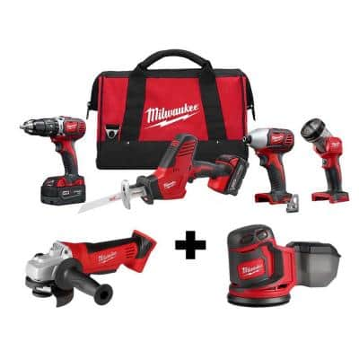 M18 18-Volt Lithium-Ion Cordless Combo Tool Kit (4-Tool) with M18 4-1/2 in. Cut-Off/Grinder and Random Orbit Sander