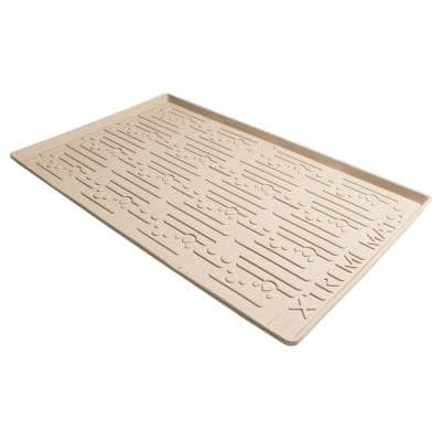 34 in. x 22 in. Beige Kitchen Depth Under Sink Cabinet Mat Drip Tray Shelf Liner