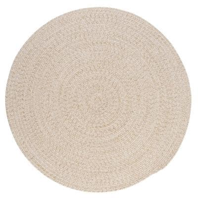Cicero Natural 8 ft. x 8 ft. Round Braided Area Rug