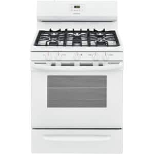 30 in. 5.0 cu. ft. 5-Burner Gas Range with Manual Clean in White