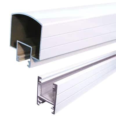 4 ft. White Aluminum Hand and Base Rail