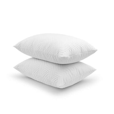 Quilted Comfort Memory Foam Jumbo Pillow Set of 2