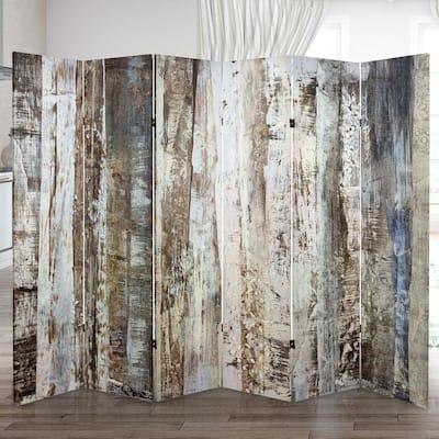6 ft. Winter Woods Printed 3-Panel Room Divider