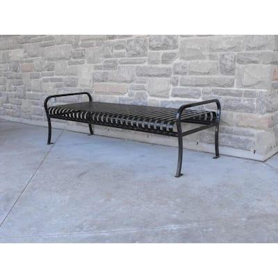 6 ft. Black Premier Backless Bench