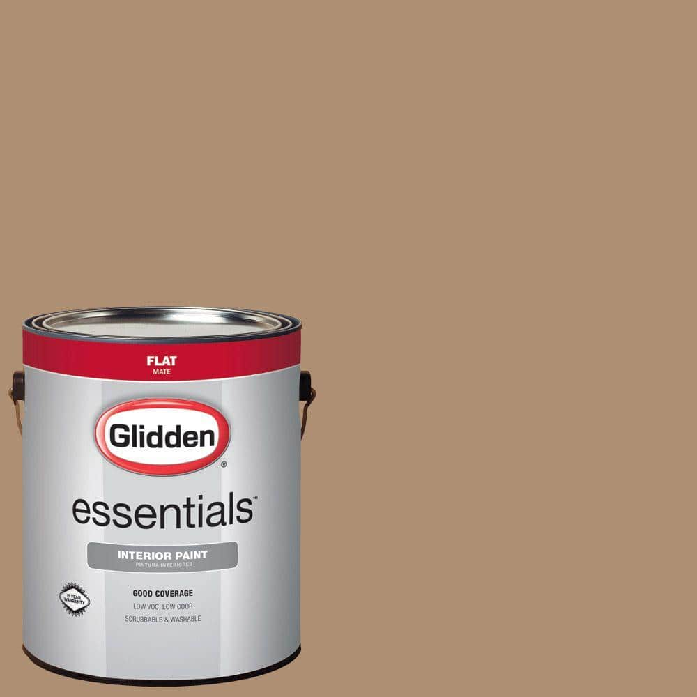 Glidden Essentials 1 Gal Hdgo51 Sandy Cove Flat Interior Paint Hdgo51e 01fn The Home Depot