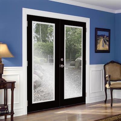 Prehung Full Lite Steel Patio Door with No Brickmold